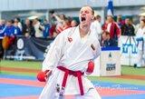 """Olimpinės karatė """"Premier"""" lygos turnyre Šanchajuje – istorinis R.Jurgilaičio debiutas"""
