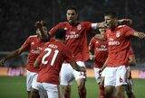 """Paskutiniai bilietai į Čempionų lygą: """"Benfica"""" sutraiškė PAOK jų namuose, """"Crvena Zvezda"""" išsigelbėjo tik įvarčių išvykoje dėka"""