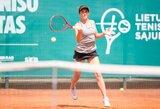 Į aukštesnio lygio turnyrą atvykusi J.Mikulskytė kartu su A.Zacharova pateko į pusfinalį
