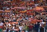 """""""Roma"""" gerbėjai surengė nuostabų pasirodymą klubo treniruotėje"""