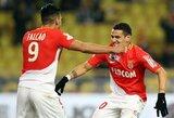 """Vienu žaidėju mažiau turėję """"Monaco"""" išplėšė dramatišką pergalę prieš """"Lyon"""""""