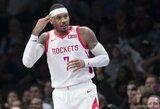 """""""Rockets"""" išsikvietė C.Anthony rimtam pokalbiui"""