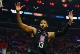 """Vakarų lyderių susitikime – triuškinanti """"Clippers"""" pergalė"""