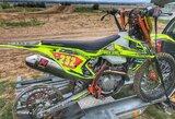 Puikiai startavęs A.Gelažninkas Kalvarijoje buvo priverstas finišuoti su neįprastai atrodančiu motociklu
