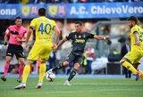 """C.Ronaldo debiutas Italijoje: portugalas nepasižymėjo, teisėjas anuliavo įvartį, bet """"Juventus"""" laimėjo pridėto laiko metu"""