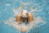 L.King pagerino JAV plaukimo čempionatų rekordą ir gerokai priartėjo prie J.Jefimovos