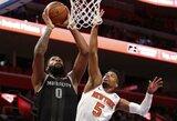 """Po krepšiu karaliavęs A.Drummondas pasiuntė """"Knicks"""" į 15-ąją nesėkmę iš eilės"""