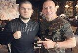 UFC prezidentas atskleidė, kad paskutinė Ch.Nurmagomedovo kova gali vykti prieš G.St-Pierre'ą