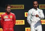 """Fanų nušvilptas L.Hamiltonas: """"Nenorėjau laimėti tokiu būdu, bet taip grįžti į trasą negalima"""""""