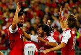"""""""Arsenal"""" nesunkiai laimėjo Australijoje, """"Borussia"""" klubui teko pavargti Japonijoje"""