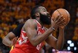"""""""Rockets"""" vėl susitvarkė su tragiškai atakavusiais """"Jazz"""" krepšininkais"""