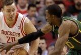 """D.Motiejūnas žaidė solidžiai, o """"Rockets"""" iškovojo triuškinamą pergalę"""