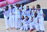 JAV moterų rinktinė penktą kartą paeiliui pasidabino aukso medaliais