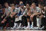 """M.Kuzminskas trečiąją """"Knicks"""" nesėkmę paeiliui stebėjo nuo suolelio"""