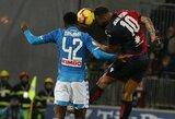 """A.Milikas fantastišku baudos smūgiu per pridėtą rungtynių laiką išplėšė """"Napoli"""" pergalę prieš """"Serie A"""" lygos vidutiniokus"""