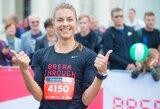 Vilniaus maratone – labdaringas E.Balčiūnaitės finišas ir organizatorių padvigubintas prizas