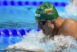 Lietuvos vyrų plaukimo rinktinei iki šalies rekordo pritrūko tik akimirkos