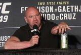 Klausimo apie UFC kovotojų algas suerzintas D.White'as sutiko susikauti su radijo laidų vedėju