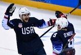 JAV ledo ritulininkai nesunkiai įveikė Slovakiją ir žengė į ketvirtfinalį