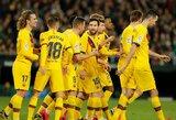 """Ispanijoje – 2 raudonos kortelės, 5 įvarčiai ir """"Barcelonos"""" pergalė"""