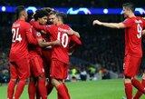 """S.Gnabry per 35 minutes pelnė 4 įvarčius, o """"Tottenham"""" pažeminęs """"Bayern"""" sutvirtino lyderio pozicijas B grupėje"""