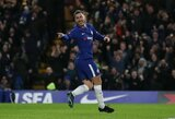 """Anglijos """"Premier"""" lyga: """"Chelsea"""" į pergalę vedė dublį atlikęs E.Hazardas"""