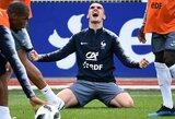 """A.Griezmanno atsakas prancūzų stilių kritikavusiam T.Courtoisui: """"Ar jis mano, kad su """"Chelsea"""" žaidžia """"Barcelonos"""" futbolą?"""""""