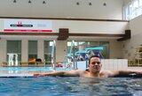 Vandens baimę įveikęs P.Strazdas Lietuvoje šiuo metu neturi sau lygių