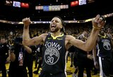 """15 taškų deficitą panaikinęs """"Warriors"""" Vakarų finale laimėjo antrąjį kartą"""