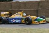 Istorinis M.Schumacherio bolidas bus parduodamas aukcione
