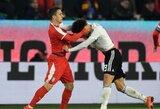 Draugiškose rungtynėse – susistumdymai, raudona kortelė ir Vokietijos lygiosios su serbais