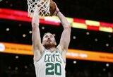 """Sezono rungtynes sužaidęs G.Haywardas atvedė """"Celtics"""" į pergalę"""