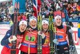 Pasaulio biatlono čempionato estafetę laimėjo norvegės