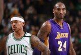 """K.Bryantas džiaugiasi pasikeitusia """"Lakers"""" ekipa: """"Jie sukūrė universalią ir fizišką komandą, tokią, kuri gali varžytis su """"Warriors"""""""