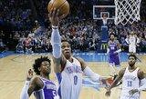 """""""Thunder"""" pergalė pažymėta R.Westbrooko klaidų lavina ir išvarymu"""