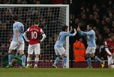 """""""Arsenal"""" futbolininkai namuose neatsilaikė prieš """"Manchester City"""""""