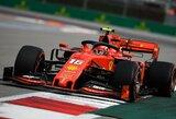 """Įspūdinga: C.Leclercas laimėjo ketvirtą """"Formulės 1"""" kvalifikaciją iš eilės"""