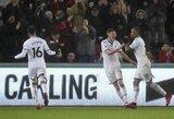 """Anglijos taurė: """"Swansea"""" tik pakartotinėse rungtynėse įveikė ketvirtos lygos atstovus"""