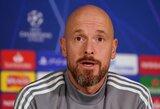 """Su """"Bayern"""" siejamas E.Ten Hagas: """"Galiu patvirtinti, kad šį sezoną liksiu """"Ajax"""""""