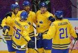 Slovėnų žygį olimpiniame ledo ritulio turnyre sustabdė švedai