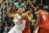 """Havajuose – rezultatyvus J.Valančiūnas, bet lengva """"Clippers"""" pergalė prieš """"Raptors"""""""