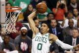 """Gražiausius NBA dienos epizodus kūrė """"Celtics"""" krepšininkai"""