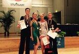 Šokėjai K.Burneikis ir I.Šekaitė Lietuvai padovanojo pirmuosius prestižinių varžybų Vokietijoje medalius