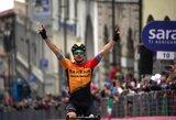 """Giro d'Italia"" etape – pirma Europos čempiono pergalė"