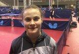 Lietuvos stalo teniso čempionė išvyko į Europos jaunimo čempionatą