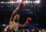 M.Pacquiao sugrįžo į ringą ir įtikinamai nugalėjo B.Riosą