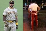 MLB žaidėjas padurtas prie striptizo klubo: drabužiai permirko krauju
