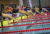 Atvirajame Vilniaus plaukimo čempionate – keturi A.Pavlidžio aukso medaliai