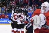 Nieko netikėto: trečią kartą iš eilės finale susikaus Kanados ir JAV ledo ritulininkės