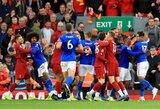 """Paskutinėmis minutėmis baudinį išplėšę """"Liverpool"""" pratęsė įspūdingą seriją Anglijoje, po rungtynių futbolininkai norėjo muštis"""
